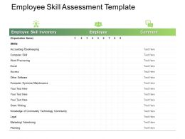 Employee Skill Assessment Planning Ppt Powerpoint Presentation Infographics Grid