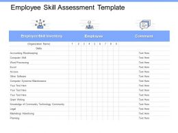 Employee Skill Assessment Template Accounting Ppt Powerpoint Presentation Ideas