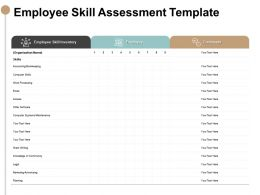 Employee Skill Assessment Template Accounting Skills Ppt Slides