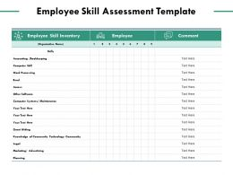 Employee Skill Assessment Template Community Technology Ppt Powerpoint Presentation Visual Aids Model