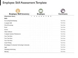 Employee Skill Assessment Template Employee Management Ppt Powerpoint Presentation Diagrams