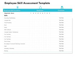 Employee Skill Assessment Template Knowledge Ppt Powerpoint Presentation Graphics Template