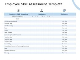 Employee Skill Assessment Template Maintenance Ppt Powerpoint Presentation Summary Portfolio
