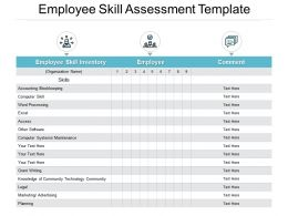 Employee Skill Assessment Template Ppt Powerpoint Presentation File Tips