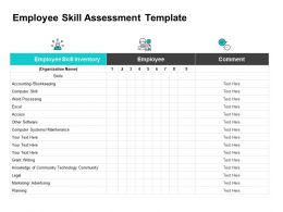 Employee Skill Assessment Template Ppt Powerpoint Presentation Summary