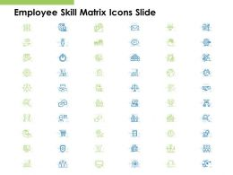 Employee Skill Matrix Icons Slide Arrow Ppt Powerpoint Presentation Model