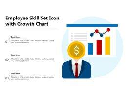 Employee Skill Set Icon With Growth Chart