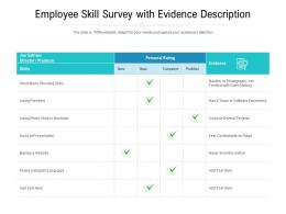 Employee Skill Survey With Evidence Description