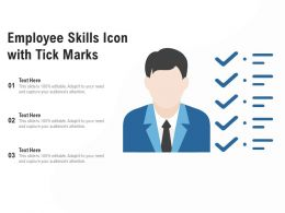 Employee Skills Icon With Tick Marks