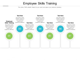 Employee Skills Training Ppt Powerpoint Presentation Images Cpb