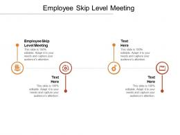 Employee Skip Level Meeting Ppt Powerpoint Presentation Pictures Influencers Cpb