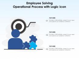 Employee Solving Operational Process With Logic Icon