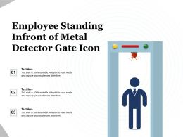 Employee Standing Infront Of Metal Detector Gate Icon