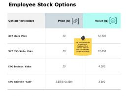 Employee Stock Options Ppt Powerpoint Presentation File Styles