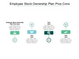 Employee Stock Ownership Plan Pros Cons Ppt Powerpoint Presentation Ideas Cpb