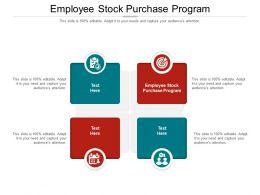 Employee Stock Purchase Program Ppt Powerpoint Presentation Ideas Vector Cpb