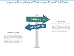 Employee Strengths And Weaknesses Powerpoint Slides