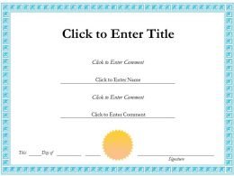 Employee Success diploma Certificate Template of Appreciation completion PowerPoint for adults