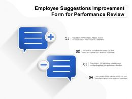 Employee Suggestions Improvement Form For Performance Review