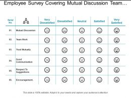 Employee Survey Covering Mutual Discussion Team Work Trust Mutually
