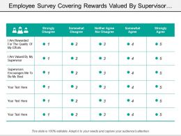 Employee Survey Covering Rewards Valued By Supervisor And Encouragement
