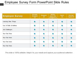 Employee Survey Form Powerpoint Slide Rules
