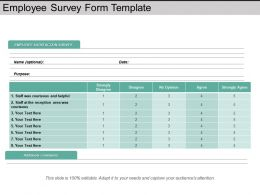 Employee Survey Form Template Powerpoint Slide Ideas