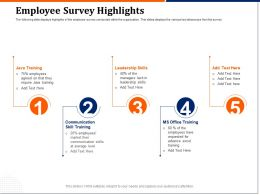 Employee Survey Highlights Skills Ppt Powerpoint Presentation Icon Infographics