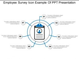Employee Survey Icon Example Of Ppt Presentation