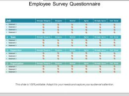 Employee Survey Questionnaire Powerpoint Slide Show
