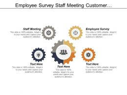 Employee Survey Staff Meeting Customer Relationship Service Management