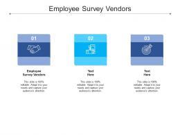 Employee Survey Vendors Ppt Powerpoint Presentation File Designs Cpb