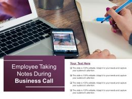 Employee Taking Notes During Business Call