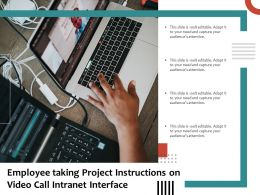 Employee Taking Project Instructions On Video Call Intranet Interface
