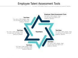 Employee Talent Assessment Tools Ppt Powerpoint Presentation Ideas Show Cpb