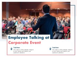 Employee Talking At Corporate Event