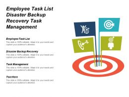 Employee Task List Disaster Backup Recovery Task Management Cpb
