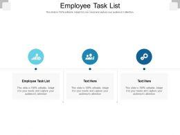 Employee Task List Ppt Powerpoint Presentation Show Mockup Cpb