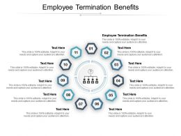 Employee Termination Benefits Ppt Powerpoint Presentation Visual Aids Infographics Cpb
