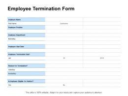 Employee Termination Form Marketing Ppt Powerpoint Presentation Portfolio Format