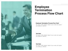 Employee Termination Process Flow Chart Ppt Powerpoint Presentation Gallery Introduction Cpb