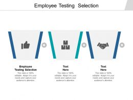 Employee Testing Selection Ppt Powerpoint Presentation Infographic Template Cpb