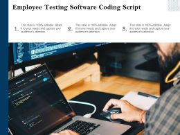 Employee Testing Software Coding Script