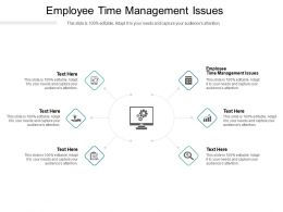 Employee Time Management Issues Ppt Powerpoint Presentation Portfolio Templates Cpb