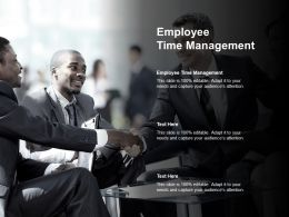 Employee Time Management Ppt Powerpoint Presentation Show Outline Cpb