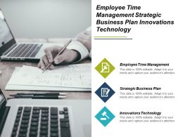 Employee Time Management Strategic Business Plan Innovations Technology Cpb