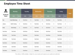 Employee Time Sheet Ppt Styles Graphics Download