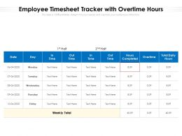 Employee Timesheet Tracker With Overtime Hours
