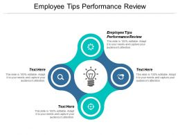 Employee Tips Performance Review Ppt Powerpoint Presentation Show Icon Cpb