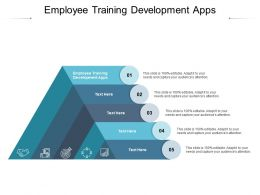 Employee Training Development Apps Ppt Infographic Template Clipart Images Cpb